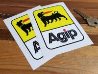 Agip Later Style Tall Stickers. 2.5