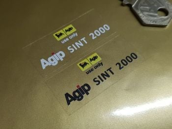 "Agip Sint 2000 Motorcycle Tank Clear Sticker . 2.5""."