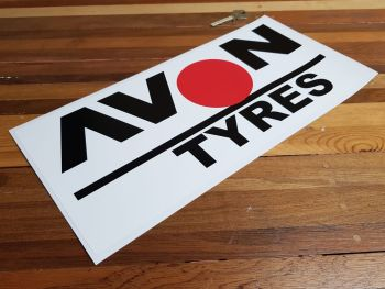 "Avon Tyres Large Spot Sticker. 14""."