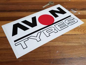 "Avon Tyres Outline Style Spot Sticker. 9.5""."