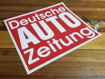 """Deutsche Auto Zeitung Autozeitung Sticker. 9.5""""."""