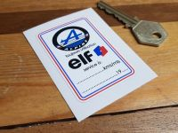 Alpine & Elf Service Sticker. 2.5