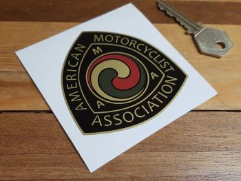 "AMA American Motorcyclist Association Old Style Logo Sticker. 2"" or 3""."