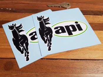 "API Gas Stickers. 2.5"" or 4.5"" Pair."