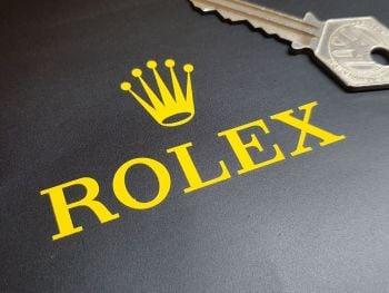 "Rolex Sponsors Cut Vinyl Stickers - Style 1 - 2"" or 3"" Pair"
