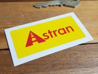 "Astran Oblong Sticker. 3""."