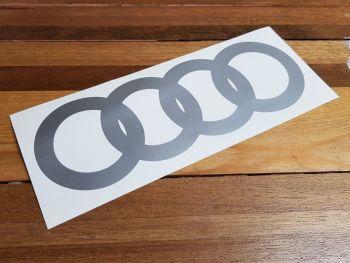 "Audi Hoops Plain Cut to Shape Sticker - 12"" or 16"""