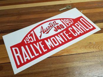 "Austin J40 Monte Carlo Rally 1957 Sticker. 13""."