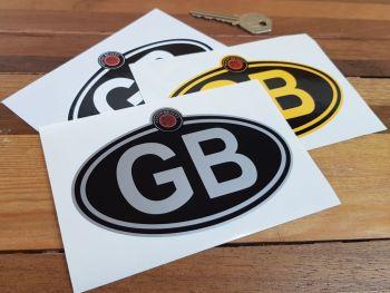 "Austin Healey Logo Nationality Country ID Plate Sticker. 5""."