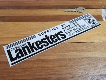 "British Leyland Dealer Window Sticker - Lankesters The Distributor - 9.75"""