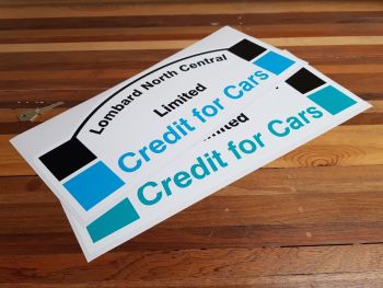 """Lombard North Central Credit for Cars Rally Plate Sticker 16.5"""""""