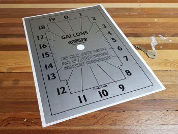 "Bowser Pump Clock Face 14"""