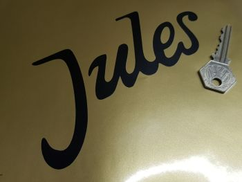 "Jules Jeans Cut Vinyl Stickers 6"" Pair"