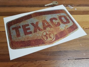 "Texaco Rusty Style Lozenge Logo Sticker - 5"" or 9"""