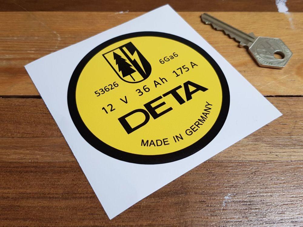 DETA Battery Sticker Porsche 911 etc - 12 Volt - 90mm