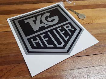 "Tag Heuer Black & Silver Sticker 7"""