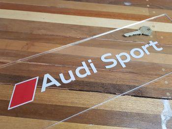 """Audi Sport & Logo Cut Text Window Sticker - 12"""""""