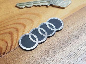 """Audi Hoops Laser Cut Self Adhesive Car Badge 2"""""""