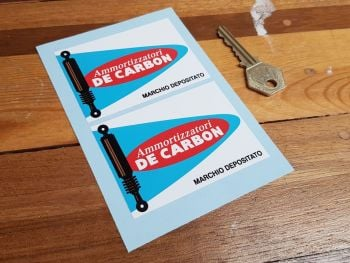 "De Carbon  Ammortizzatori Suspension Oblong Stickers - 3.25"" Pair"