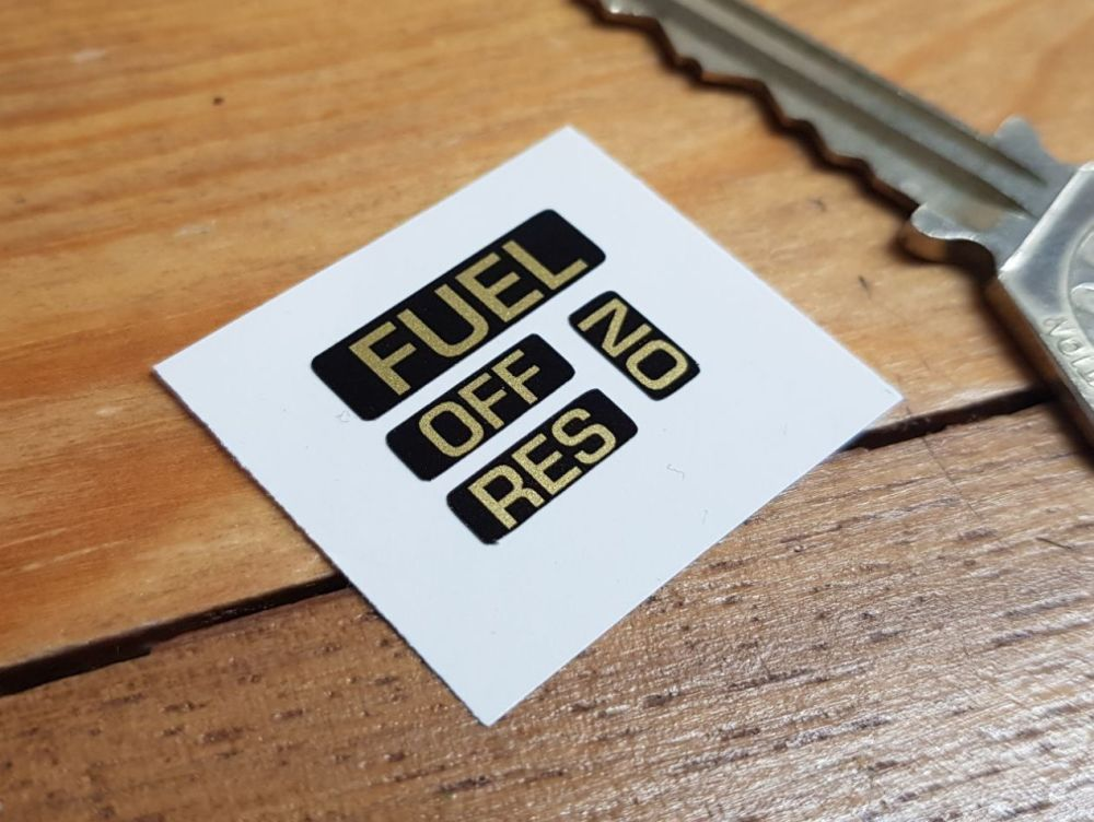 Fuel Switch Label Set Stickers - Set of 4