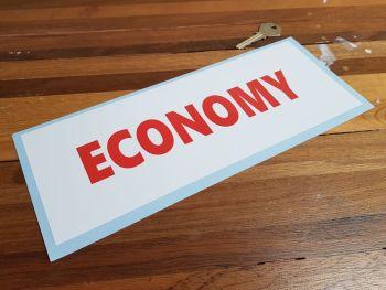 "Economy Red & White Petrol Pump Window Sticker 11"""