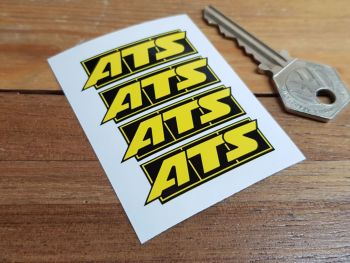 ATS Yellow & Black Wheel Rim Stickers. 45mm. Set of 4.