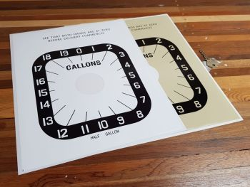"Avery Hardoll Petrol Pump Style 3 Half Gallon Clock Face Sticker. 11""."