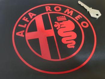 Alfa Romeo Cut Vinyl Circular Logo Sticker. 160mm.