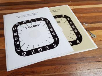 "Avery Hardoll Petrol Pump Style 2 Gallons Clock Face Sticker. 11""."