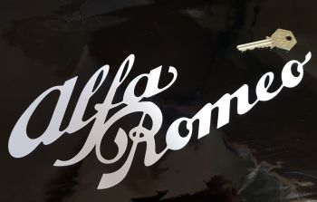Alfa Romeo Cut Text Double Line Sticker 12""