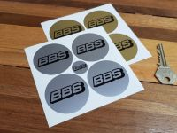 BBS Wheel Centre Stickers - Gold or Silver - Set of 4 - 50mm