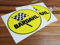 """Bardahl Oil Oval Stickers. 6"""" Pair."""