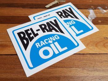 Bel-Ray Racing Oil Stickers Pair 4""