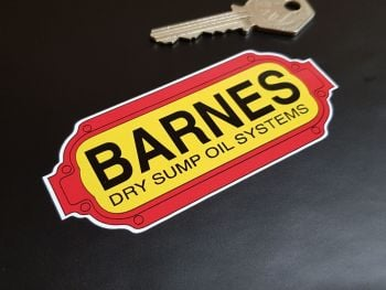 """Barnes Dry Sump Oil Systems Stickers 4"""" Pair"""