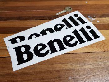 "Benelli Cut Vinyl Text Stickers 8.5"" Pair"
