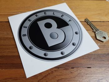 "Berkeley Black & Silver Logo Sticker - 2.25"" or 5"""