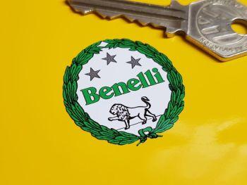 Benelli Green Garland Stickers - 35mm Pair