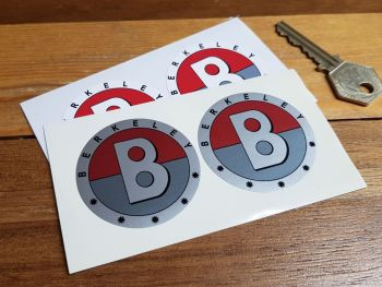 "Berkeley Coloured Logo Stickers. 2"" Pair."