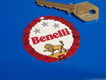 "Benelli Red & White Style Garland Sticker - 2"", 2.25"", or 4"""