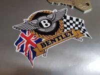 "Bentley Flag & Scroll Sticker 4"""