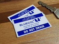 "Bluecol 'U' Anti-Freeze Dark Blue Special Offer Stickers. 2"" Pair."