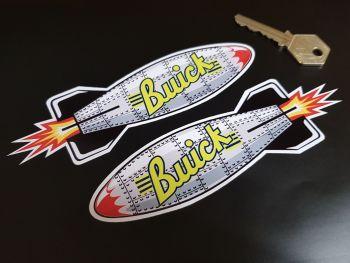 "Buick Shaped Torpedo Stickers 6"" Pair"