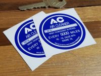 AC Air Cleaner Dark Blue Special Offer Stickers. 2