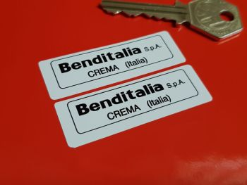 Benditalia S.p.A. Crema Black & White Servo Stickers - 56mm Pair