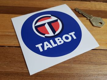 Talbot World Rally Champion Blue Circular Sticker 4""