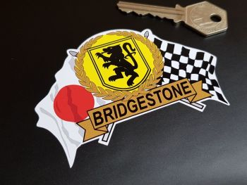 Bridgestone Flag & Scroll Sticker 4""