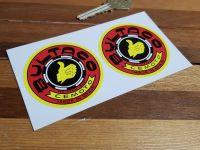 Bultaco Red & Yellow Circular Stickers - 2