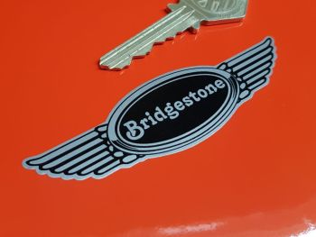 Bridgestone Winged Helmet Sticker 3.5""