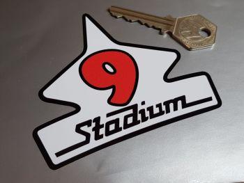 "Stadium 9 Logo Helmet Sticker - White - 3.5"""