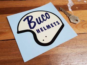 "Buco Helmets Shaped Sticker 4"""